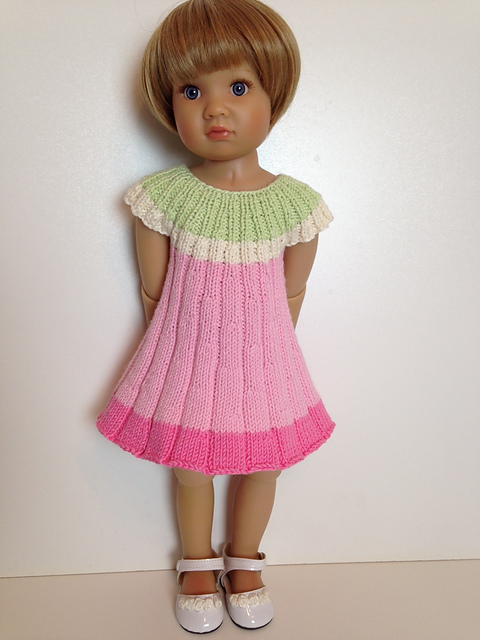 Ravelry Flower Knitted Dress 18 Doll Pattern By Vita