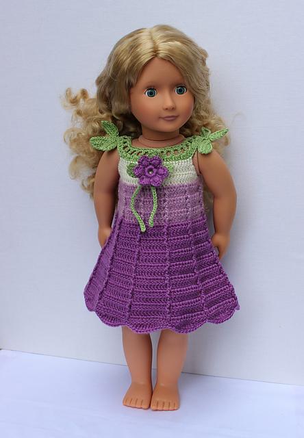 41b630f39 Ravelry  TULIP crochet doll dress pattern by KNIT n PLAY