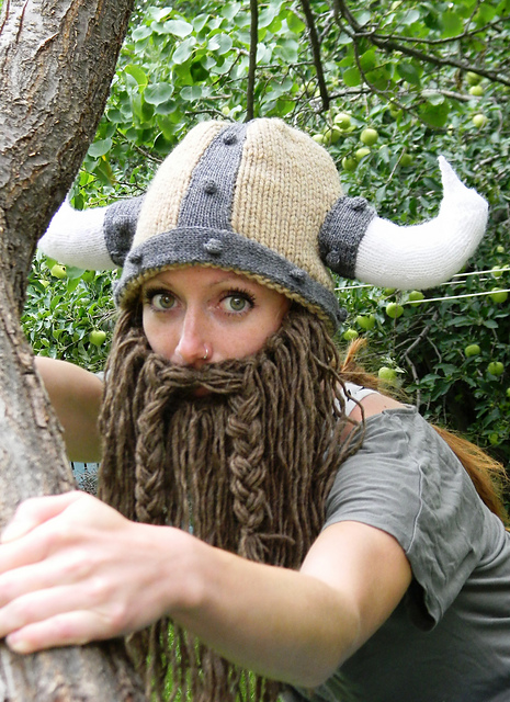 Ravelry Bearded Viking Helmet Pattern By Holly Priestley