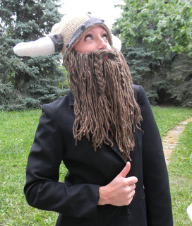 Viking Hat Knitting Pattern Free : Ravelry: Bearded Viking Helmet pattern by Holly Priestley