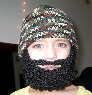 17a1343acff Ravelry  Child Beard Beanie Hat pattern by Celina Lane