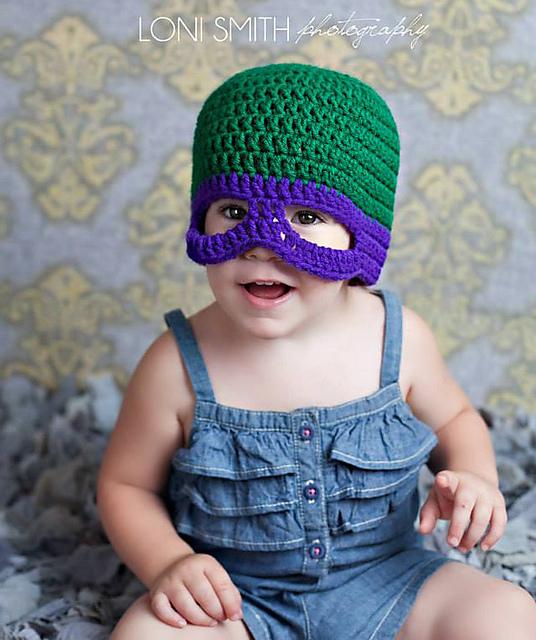 Ravelry Baby Teenage Mutant Ninja Turtles Tmnt Mask Hat 5 Sizes