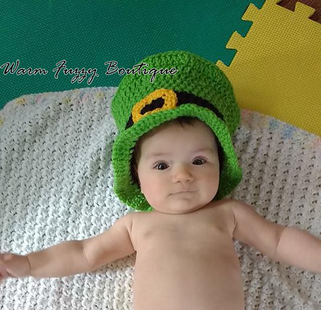 Ravelry  Baby Leprechaun Top Hat pattern by Sissy Johnson 7be726c3ac9