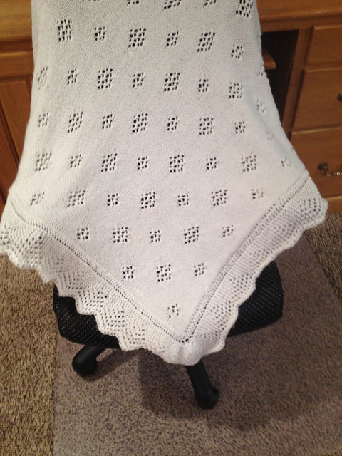 Ravelry The Royal Look Knitted Baby Shawl Pattern By Spotlight