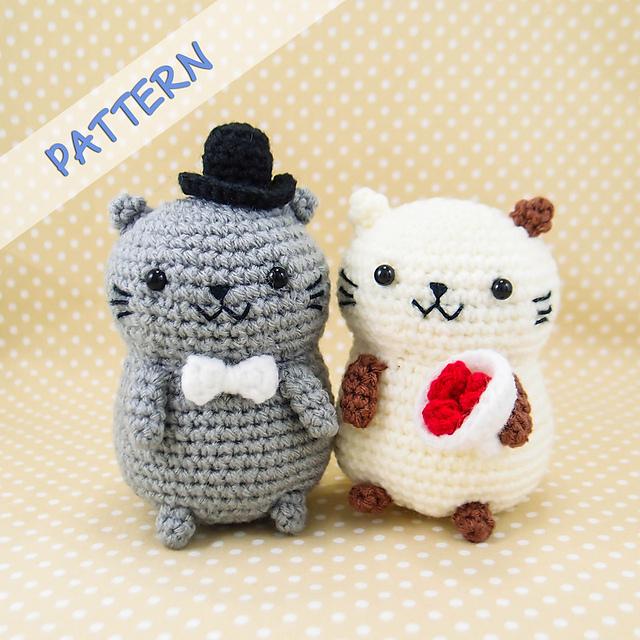 Ravelry Cat Couple Amigurumi Pattern By Snacksies Snacksies