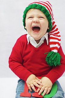 cdada34bf Santa's Helper Striped Elf Hat pattern by Breanna Krueger