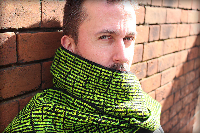 Peano no 2 double knitting scarf by Nathan Taylor