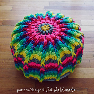 Ravelry Pouf Floor Pillow Or Mandala Wall Art Hoop