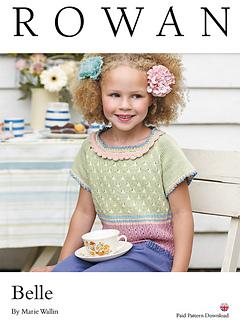 ravelry belle girl s top pattern by marie wallin