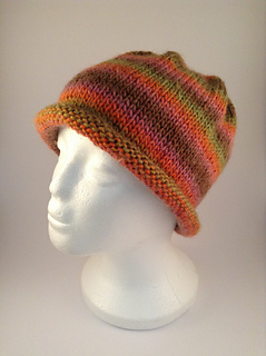 933a24816e0 Ravelry  Easy Stripes Rolled Brim Beanie pattern by Sophie Le Cuiche