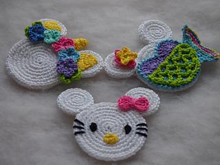 Ravelry: mermaid unicorn and hello kitty pattern by olga tarasova