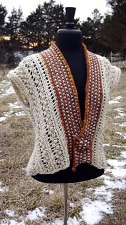 Berries & Lace Vest pattern by Kat Oliver