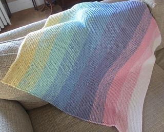 Ravelry Gradient Garter Baby Blanket Pattern By Darlene Dale