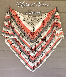 Ravelry Virus Meets Granny Shawl Pattern By Jinty Lyons