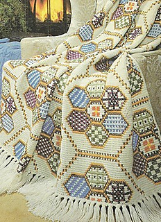 Ravelry Patchwork Embroidered Afghan Stitch Afghan Pattern By