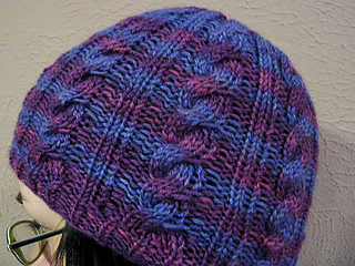 Ravelry  Basic Cable Hat pattern by Christine Quirion 42f5a7dbd5d