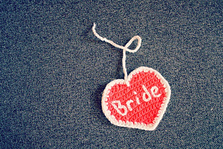ccde389c5afb Ravelry: Bride Heart Luggage Tag pattern by Stephanie Gayler