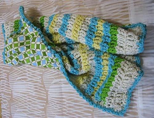Ravelry Reversible Crochet Blanket In Seaside Colors Pattern By The