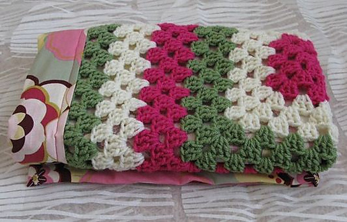 Ravelry Reversible Granny Square Baby Blanket Pattern By