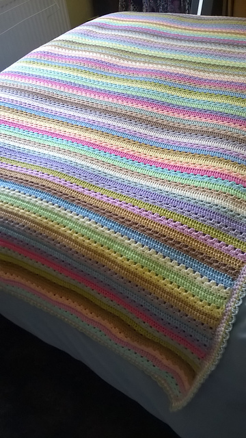 Ravelry Cosy Stripe Blanket Pattern By Lucy Of Attic24