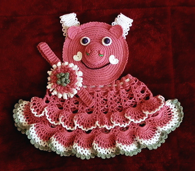 ravelry baby girl dress pinafore topper crochet pattern pdf