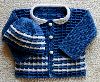 Ravelry: Baby Boy Crochet Sweater and Hat Set pattern by ...