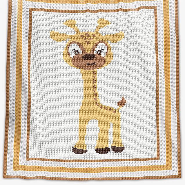 Ravelry Baby Blanket Baby Giraffe Pattern By Elena Balyuk