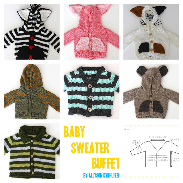 09f5b16c2 Ravelry  Baby Sweater Buffet pattern by Allyson Dykhuizen