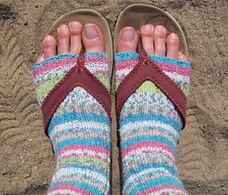 089736689 Ravelry  Flip Flop Socks pattern by Michele C Meadows