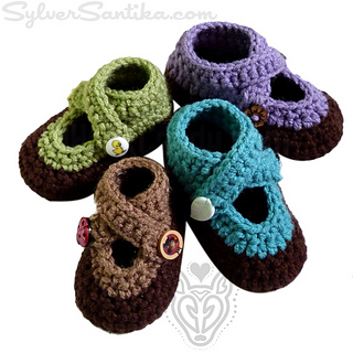 3776e0d6cad Ravelry  Double Strap Baby Booties pattern by Sylver Santika