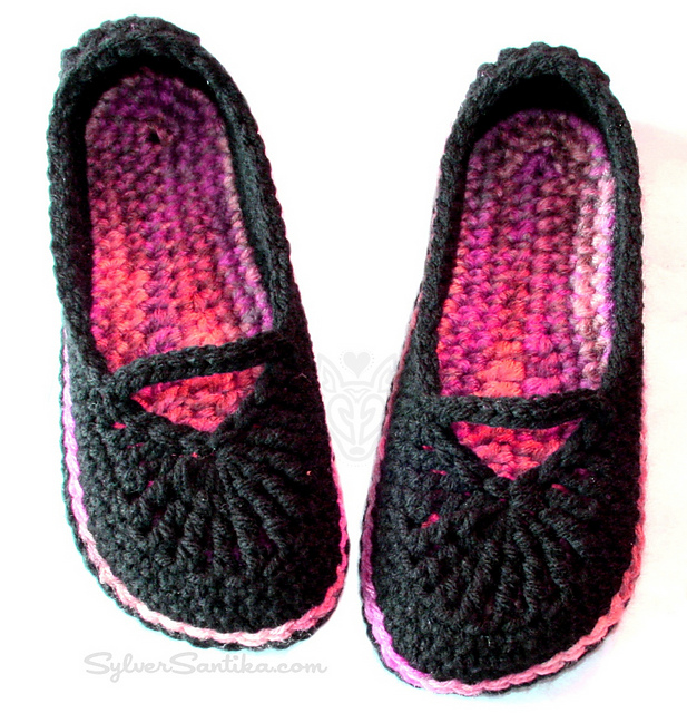 Ravelry Womens Mary Jane Skimmers Pattern By Sylver Santika