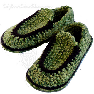 1c8564b44f4 Ravelry  Children s Loafer Slippers pattern by Sylver Santika