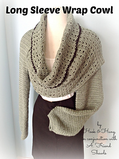 Free Crochet Pattern For Shawl With Sleeves : Ravelry: Long Sleeve Wrap Cowl pattern by Melissa R. M. Frank