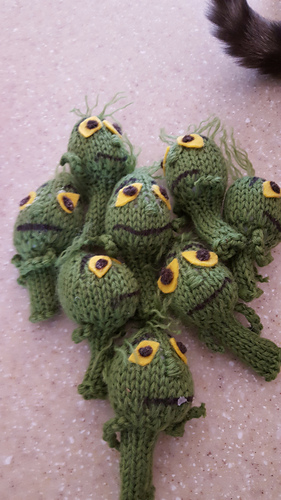 Ravelry The Grinch Pencil Topper Pattern By Lori Galloway