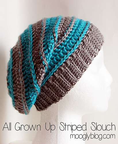 e04a62f85f1 All Grown Up Striped Slouch Hat ...
