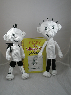 Ravelry diary of a wimpy kid doll greg pattern by sharon for Diary of a wimpy kid crafts