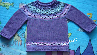 jumper Crocus pattern by tatiana Martin