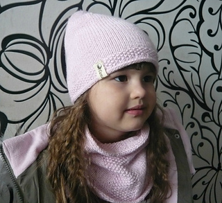 Hat&cowl pink set pattern by tatiana Martin