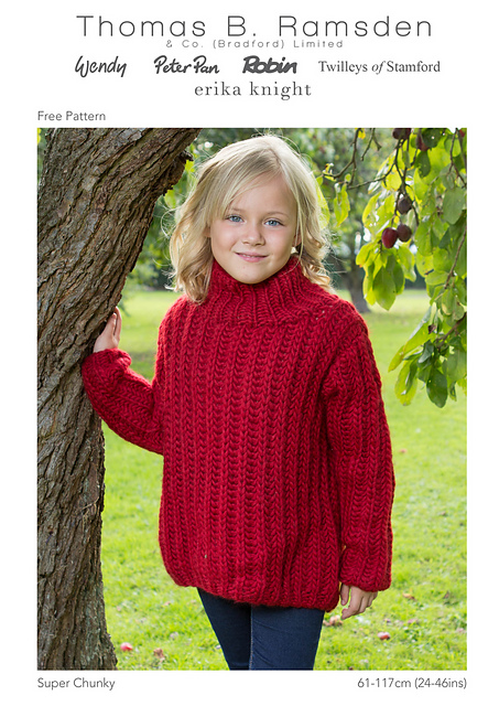 Ravelry Super Chunky Family Fishermans Rib Sweater Pattern By