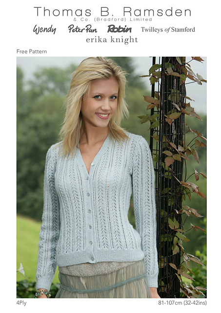 Ravelry 4ply Lacy Cardigan Pattern By Thomas B Ramsden Co