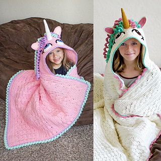 Ravelry Hooded Unicorn Blanket Pattern By Joni Memmott