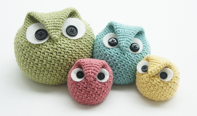 Ravelry Chubby Owl Family Pattern By Tara Schreyer