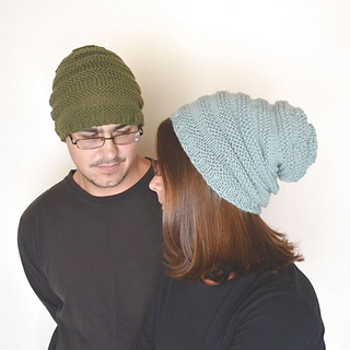 c886810a22b Ravelry  Knit Texture Stripe Beanie Hat Classic and Slouchy pattern by the  Good Shnit