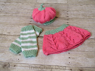 & Ravelry: Baby Strawberry Costume pattern by The Chilly Dog