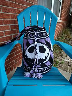 Ravelry Jack Skellington Tapestry Crochet Bag Pattern By