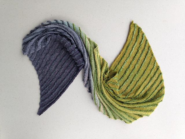 Ravelry Striped Bias Shawl Pattern By Karen Turnbull