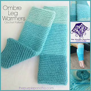 Free Printable Crochet Patterns For Leg Warmers : Ravelry: Ombre Leg Warmers pattern by Carolyn Calderon