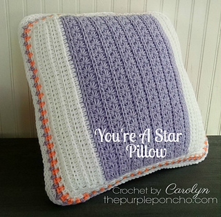 Free Crochet Patterns For Small Pillows : Ravelry: Youre A Star Pillow pattern by Carolyn Calderon
