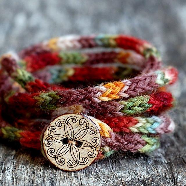 Ravelry Rustic I Cord Wrap Bracelet Pattern By Elizabeth Murphy