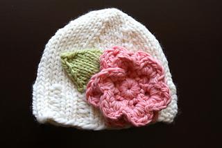 Ravelry  Bulky Knit Hat with Flower pattern by Jessica Zoz a0726308da9